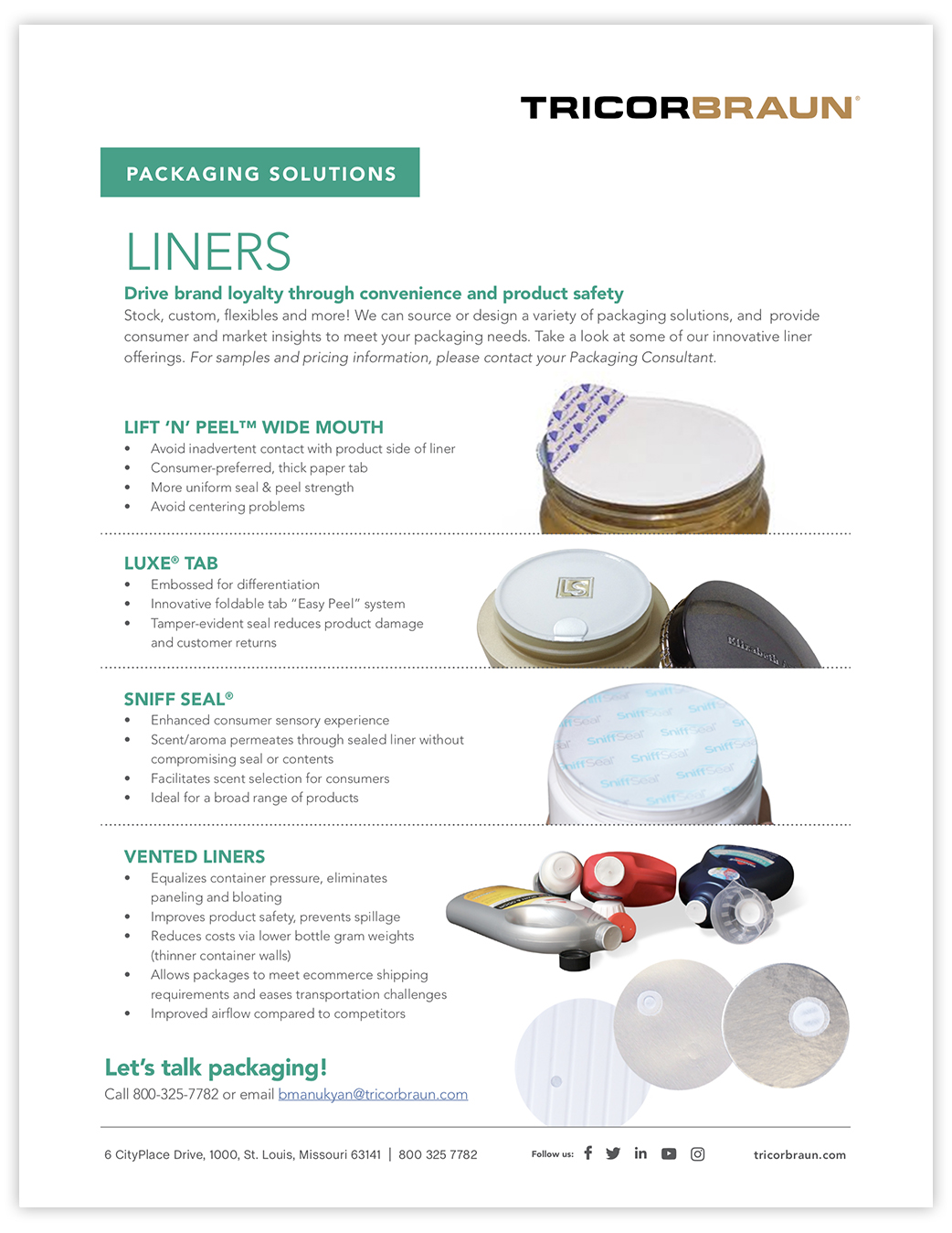 TricorBraun Packaging Solutions: Liners
