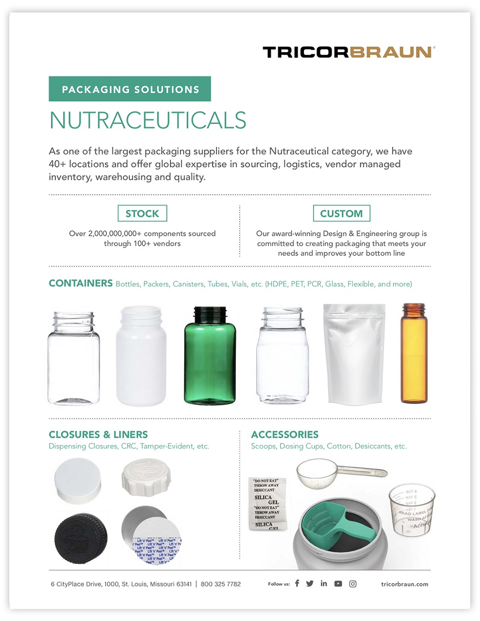 TricorBraun Packaging Solutions: Nutraceuticals