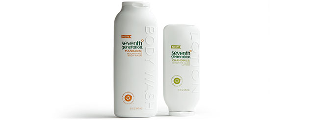 Seventh Generation Body Wash and Sensitive Care Lotion, Seventh Generation